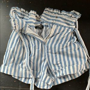 Striped high waisted shorts from Forever 21